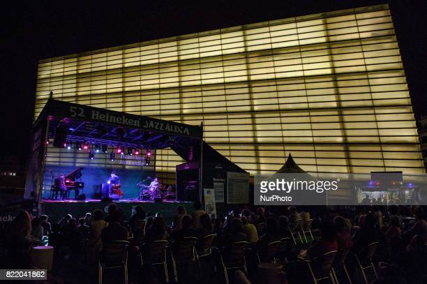 A general view of atmosphere as american Jazz saxophonist Donny McCaslin performs onstage with the Donny McCaslin Quartet during 52nd edition of...