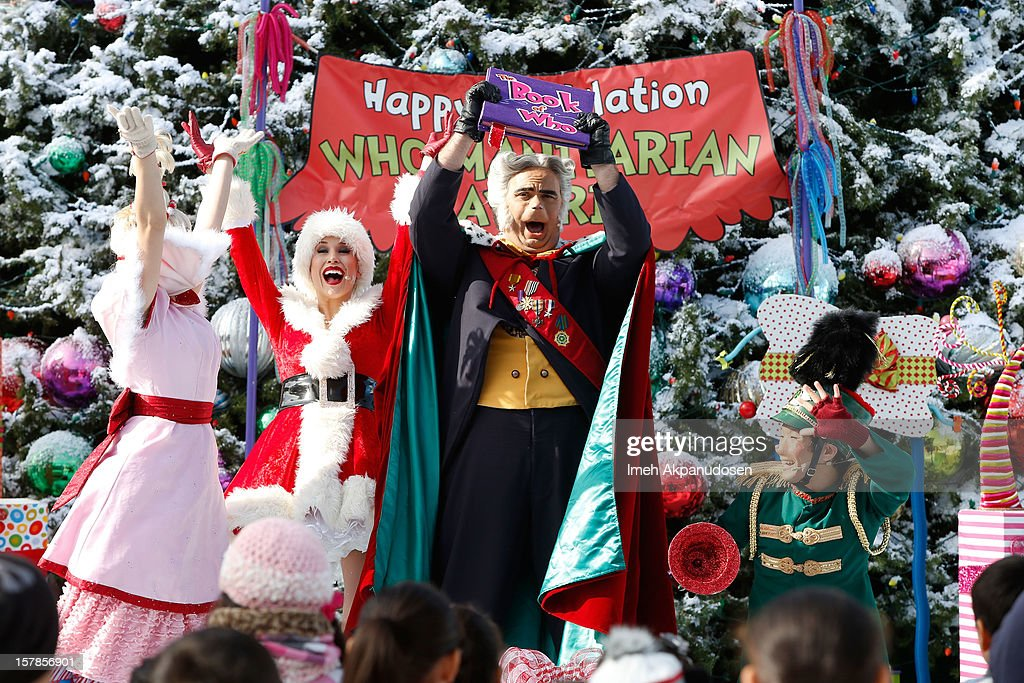 A general view of atmosphere as Betty White accepts the 'Who-Manitarian' award as Universal Studios Hollywood celebrates 'Grinchmas' held at Universal Studios Hollywood on December 6, 2012 in Universal City, California.