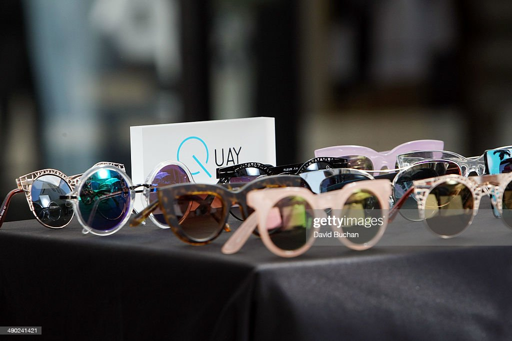 A general view of atmosphere as EXTRA shows off the latest Spring/Summer Sunglass trends at Westfield Century City on May 13, 2014 in Los Angeles, California.