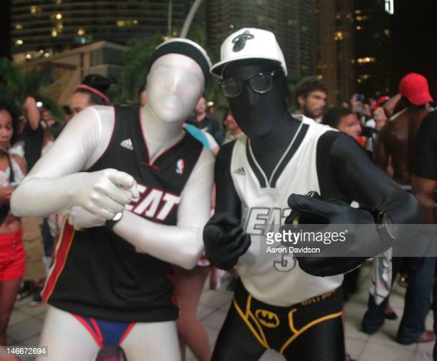 A general view of atmosphere as Fans celebrate the Miami Heat NBA Championship win on June 21 2012 in Miami Florida