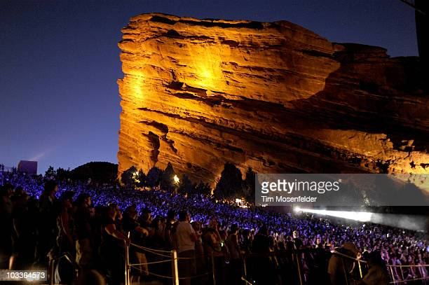 General view of atmosphere as Gogol Bordello and Primus perform in support of the bands 2010 Summer Tour at Red Rocks Amphitheatre on August 12 2010...