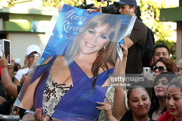 A general view of atmosphere as Jenni Rivera is posthumously honored on Plaza Mexico's Walk of Fame at Plaza Mexico on December 9 2014 in Los Angeles...