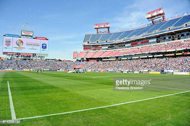 A general view of atmosphere as over 25000 fans attend an international friendly match in the SheBelieves Cup between USA and France at Nissan...