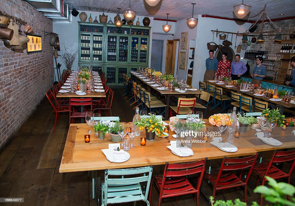General view of atmosphere as seen during ELLE & Tod's Celebrate Kerry Washington at Il Buco Alimentari & Vineria on May 15, 2013 in New York City.