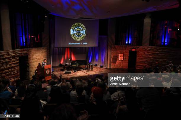 General view of atmosphere as seen during Jimmy Webb Poets And Prophets Session at Country Music Hall of Fame and Museum on April 29 2017 in...