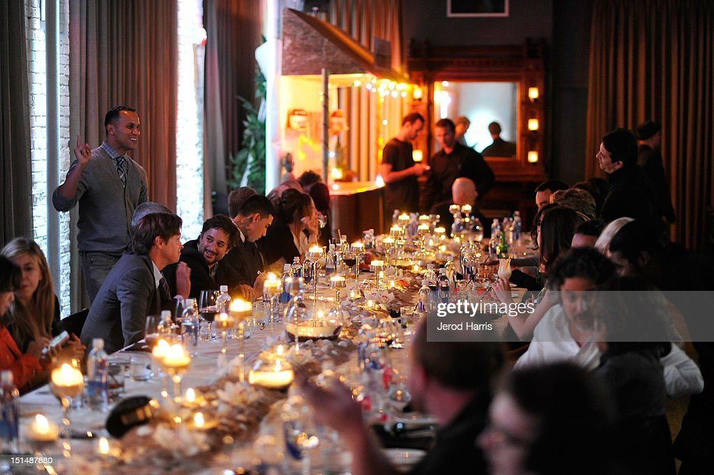 General view of atmosphere at a dinner for the cast of 'Spring Breakers' hosted by vitaminwater during the 2012 Toronto International Film Festival at Brassaii on September 7, 2012 in Toronto, Canada.