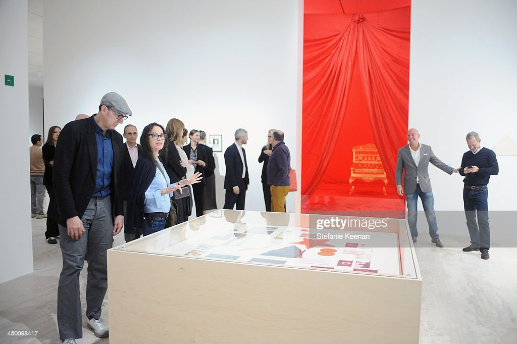 A general view of atmosphere at a private preview at Museo Jumex on November 16, 2013 in Mexico City, Mexico.