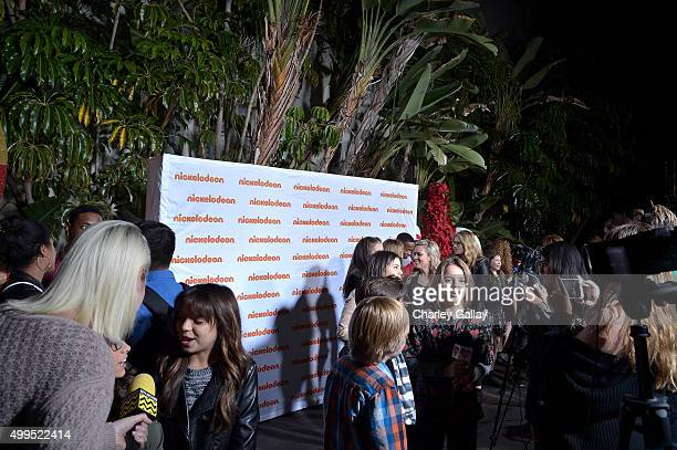 A general view of atmosphere at a screening of Nickelodeon's Ho Ho Holiday Special at Paramount Studios on December 1 2015 in Hollywood California