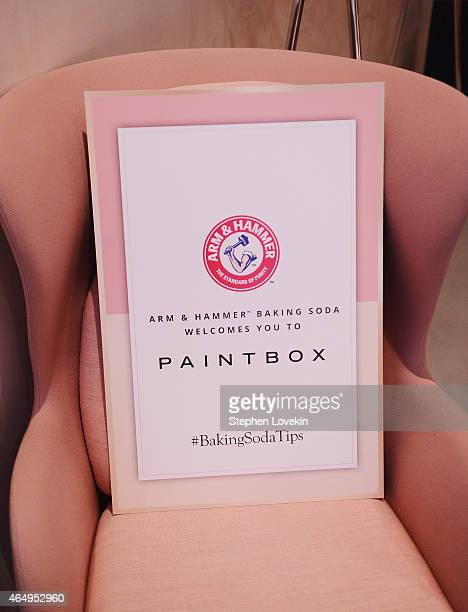 A general view of atmosphere at a special beauty tips and tricks sharing event hosted by Lo Bosworth and ARM HAMMER Baking Soda at Paintbox Salon on...
