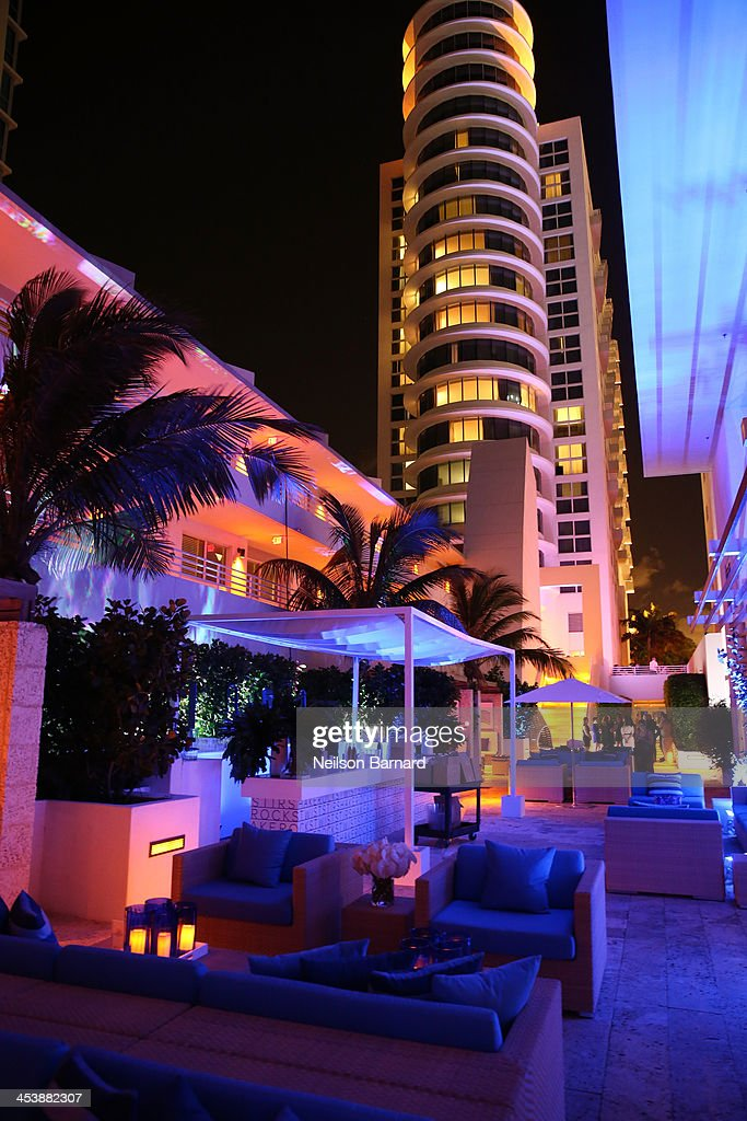 A general view of atmosphere at AD Oasis And Amy Sacco Host Bungalow 8 Party at James Royal Palm Hotel on December 5, 2013 in Miami Beach, Florida.
