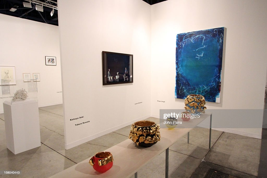 A general view of atmosphere at Art Basel Miami Beach 2012 at the Miami Beach Convention Center on December 9, 2012 in Miami Beach, Florida.