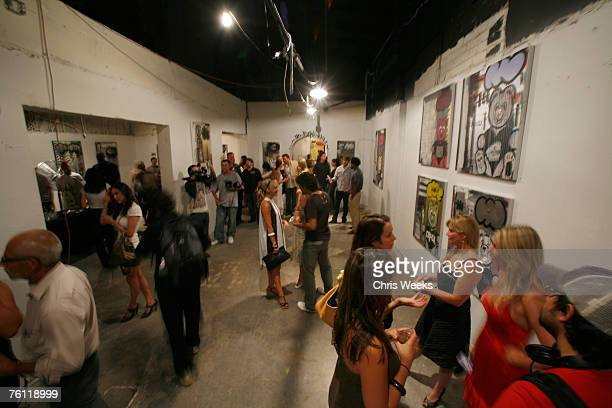 A general view of atmosphere at artist Louis Carreon's showcase of Hollywood life collection entitled 'For the Love of Honey' at Uncle Buck's Gallery...