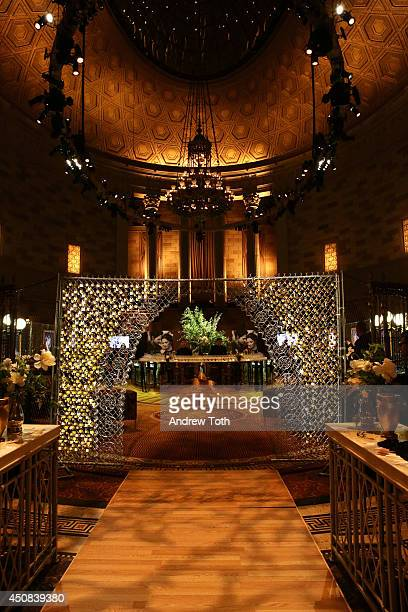 A general view of atmosphere at BAUME MERCIER Promesse North American Launch at Gotham Hall on June 18 2014 in New York City