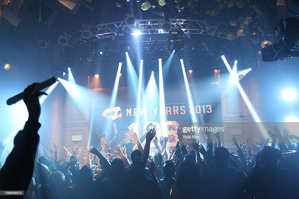 General view of atmosphere at BET's '106 & Party' 2013 New Years Eve party at BET Studios on December 17, 2012 in New York City.