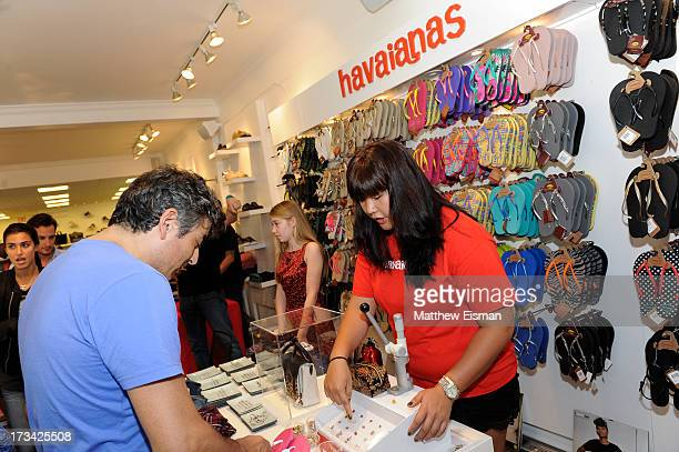 A general view of atmosphere at Blue Cream presents the Hamptons Summer Soiree with Comes With Baggage and Havaianas on July 13 2013 in East Hampton...