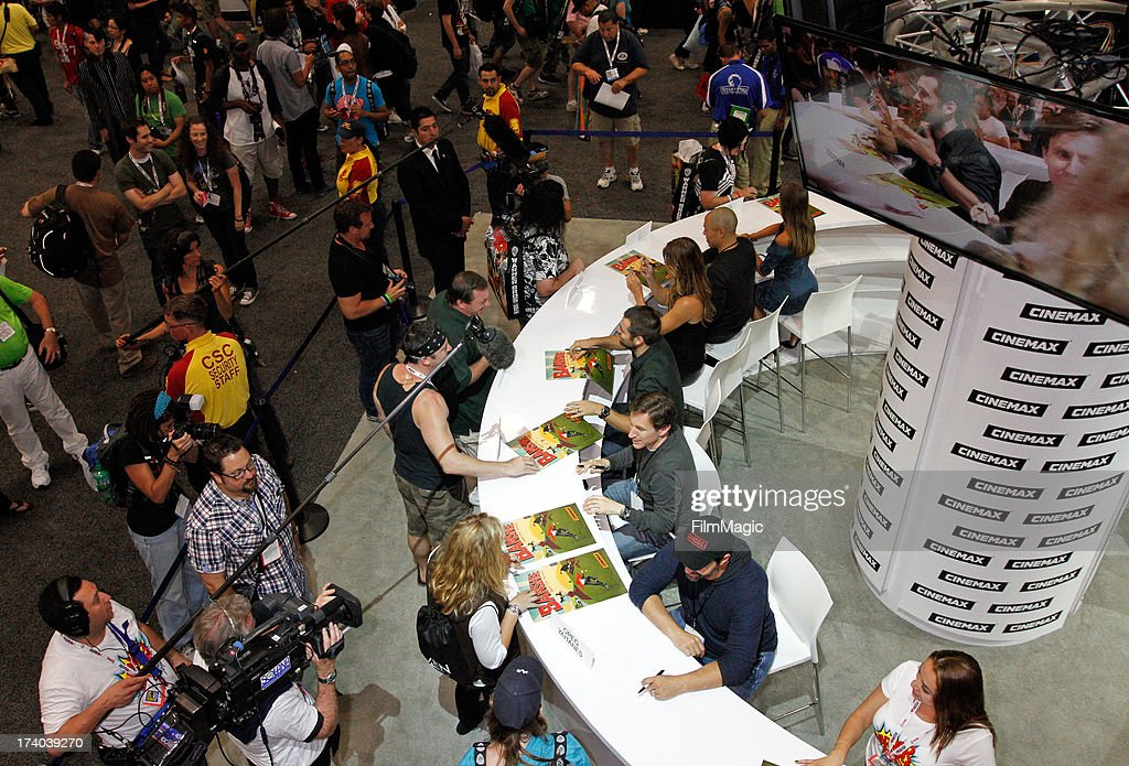 General view of atmosphere at Cinemax's 'Banshee' cast autograph signing at San Diego Convention Center on July 19, 2013 in San Diego, California.