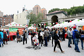 General view of atmosphere at City Of Bologna Celebrates Partnership With GrowNYC At Union Square's Night Market at Union Square Market on October 10...