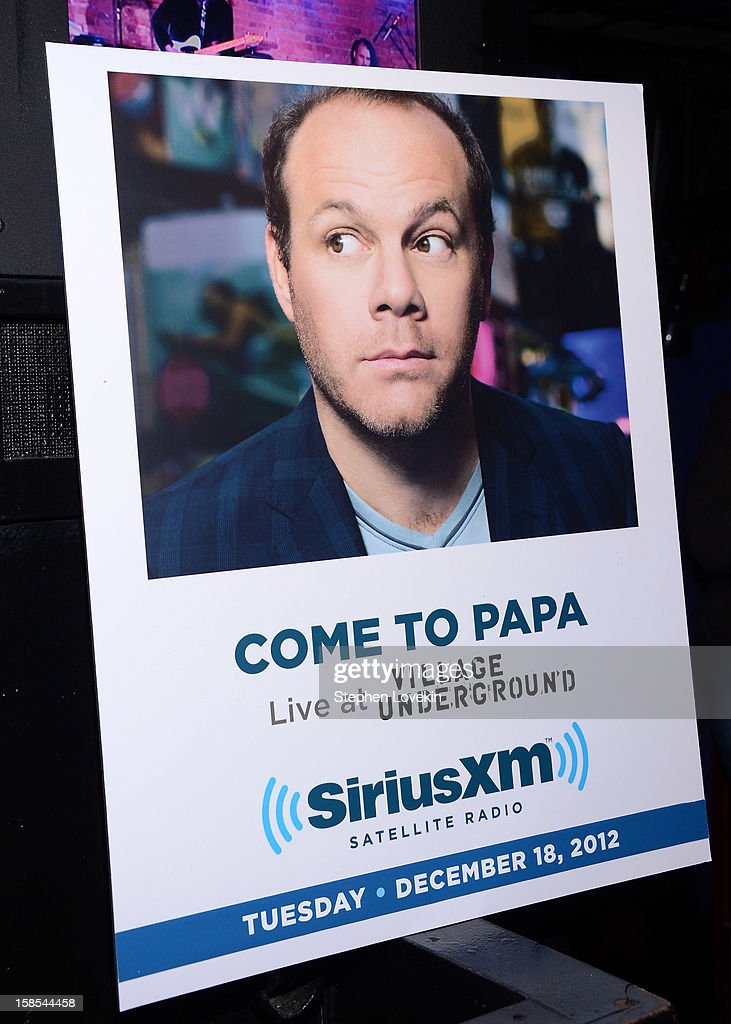A general view of atmosphere at comedian Tom Papa's special Christmas edition of SirusXM's 'Come To Papa' his 'Raw Dog' comedy show on SiriusXM at Village Underground on December 18, 2012 in New York City.
