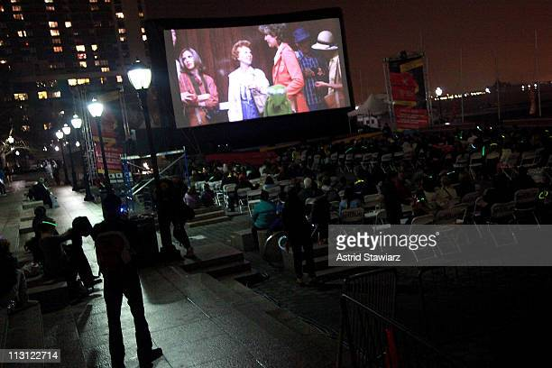 A general view of atmosphere at DriveIn Presents 'The Muppets Take Manhattan' during the 2011 Tribeca Film Festival at North Cove at World Financial...