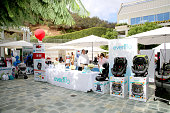 A general view of atmosphere at Favordby's 3rd annual Red CARpet Safety Awareness Event presented by Evenflo at Skirball Cultural Center on September...