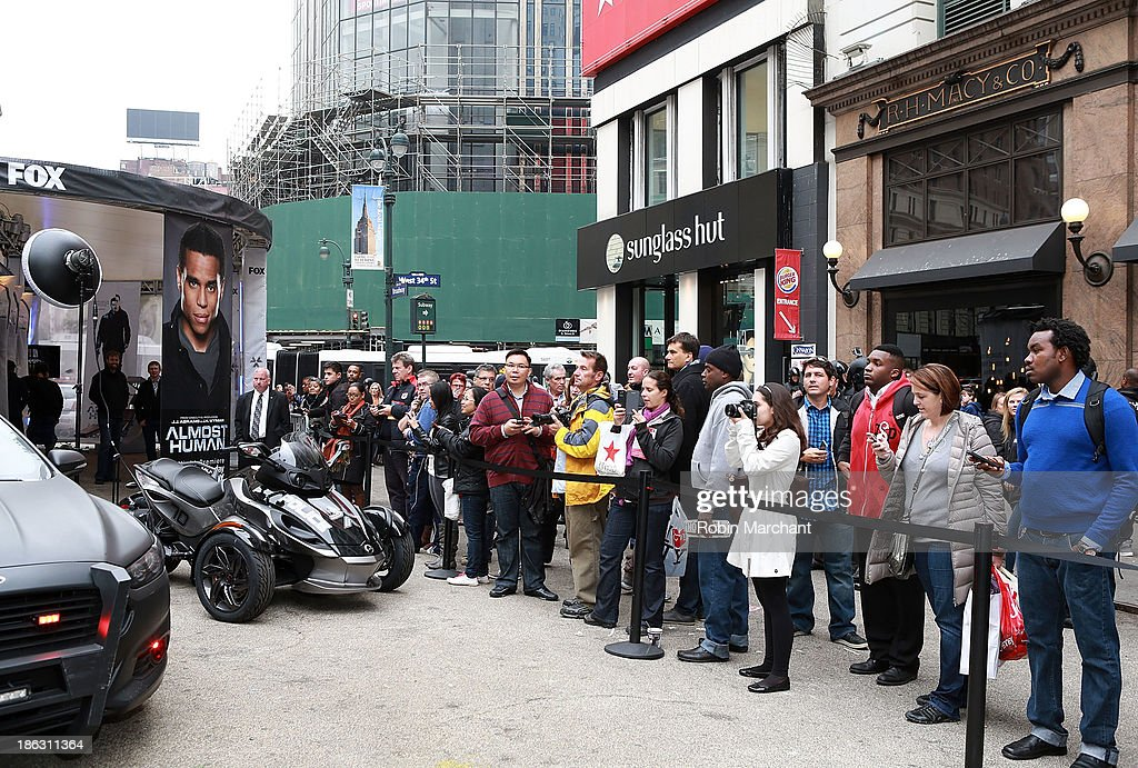 General view of atmosphere at FOX's 'Almost Human-hattan' experience at Herald Square on October 30, 2013 in New York City.