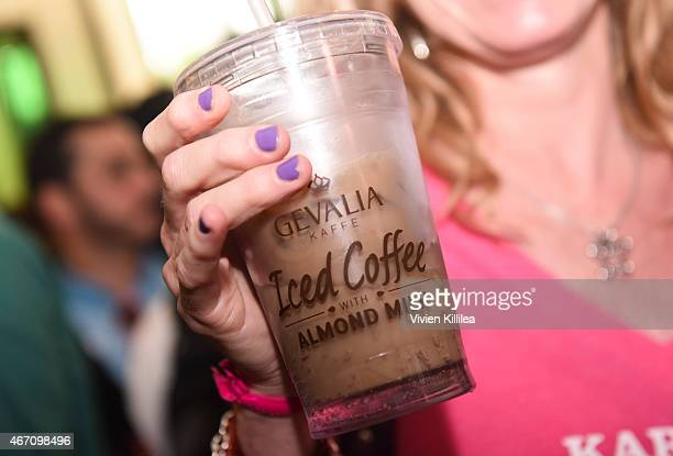A general view of atmosphere at Gevalia Iced Coffee with Almond Milk at Rachael Ray's Feedback House on March 20 2015 in Austin Texas