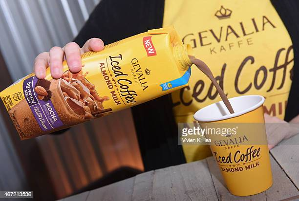 A general view of atmosphere at Gevalia Iced Coffee with Almond Milk at Rachael Ray's Feedback House on March 21 2015 in Austin Texas