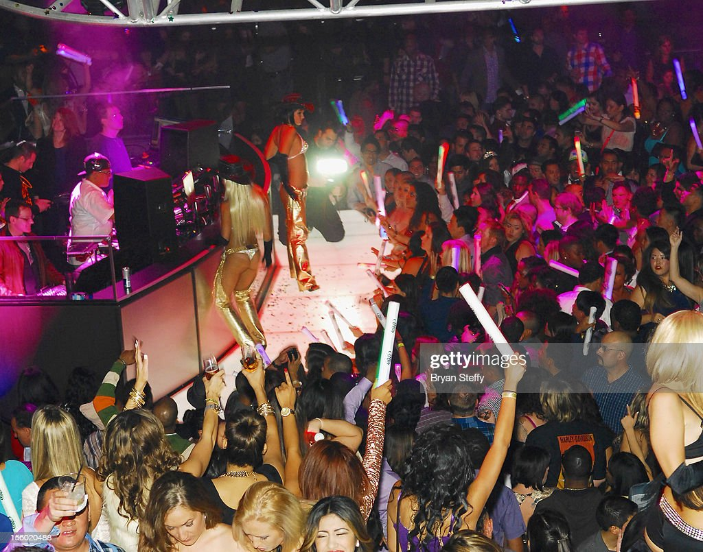 A general view of atmosphere at Haze Nightclub at the Aria Resort & Casino at CityCenter on November 10, 2012 in Las Vegas, Nevada.