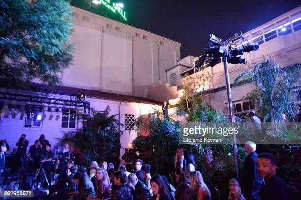 A general view of atmosphere at HM x ERDEM Runway Show Party at The Ebell Club of Los Angeles on October 18 2017 in Los Angeles California