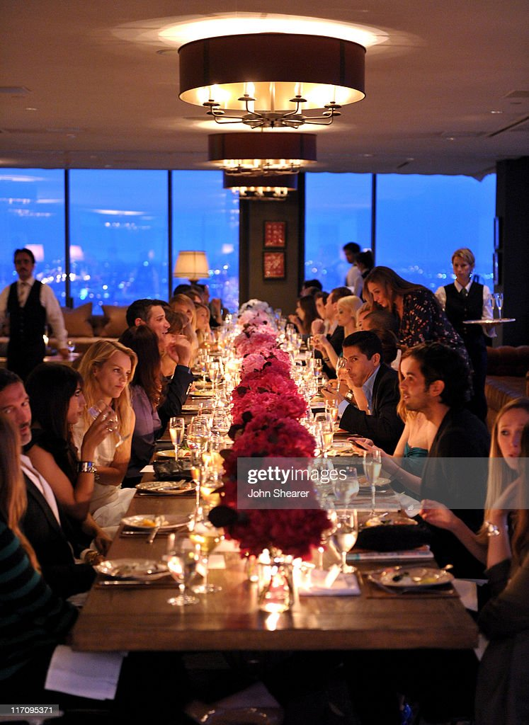 A general view of atmosphere at 'InStyle's Dinner With A Designer' for Rachel Zoe at Soho House on June 21, 2011 in West Hollywood, California.