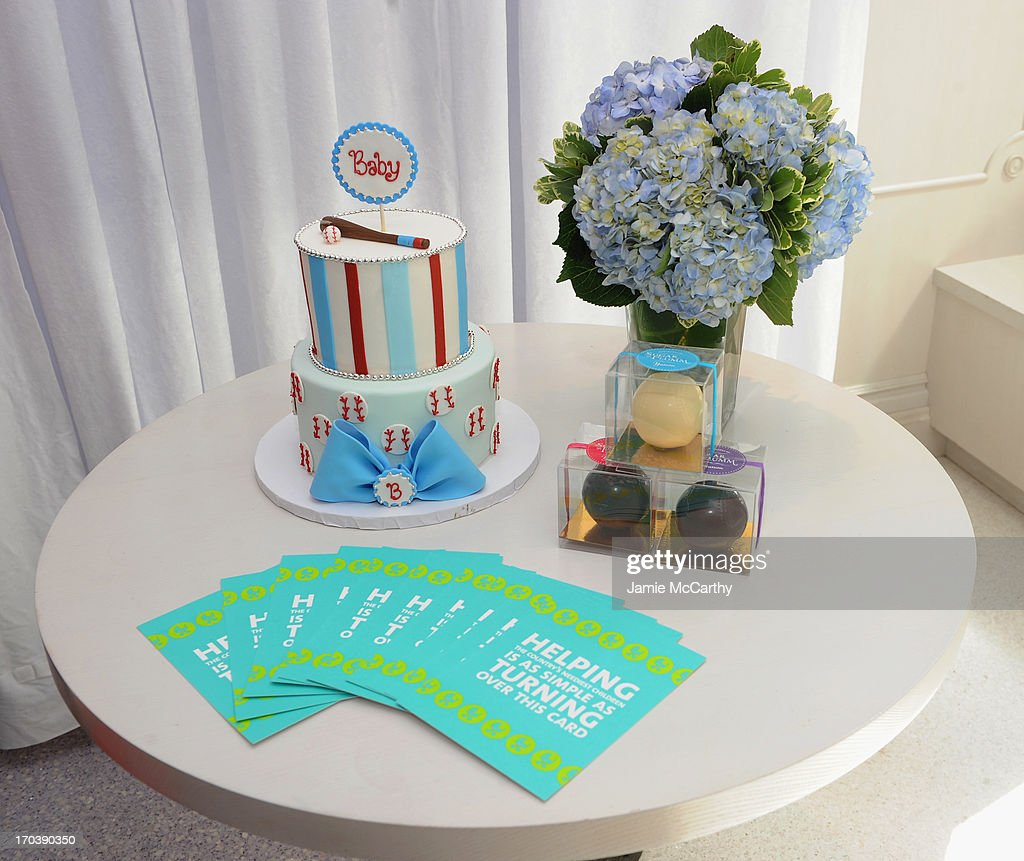 A general view of atmosphere at Jamie-Lynn Sigler's baby shower benefitting Baby Buggy sponsored by Britax/BOB, Cloud B, Hanky Panky and Serena & Lily at Sugar And Plumm on June 12, 2013 in New York City.