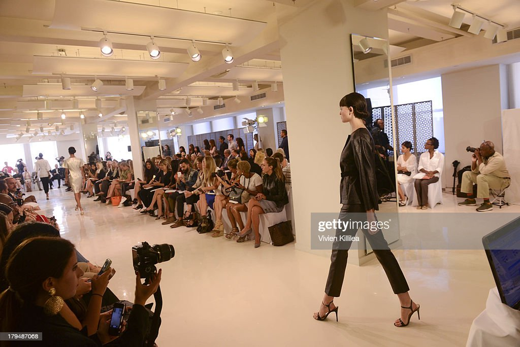 A general view of atmosphere at Josie Natori - Front Row - Mercedes-Benz Fashion Week Spring 2014 on September 4, 2013 in New York City.