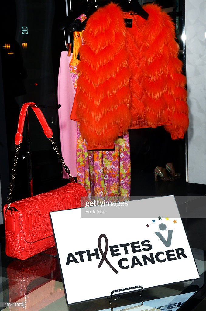 A general view of atmosphere at Matt Barnes Foundation Athletes Vs. Cancer event at Versace Boutique on January 31, 2014 in Beverly Hills, California.