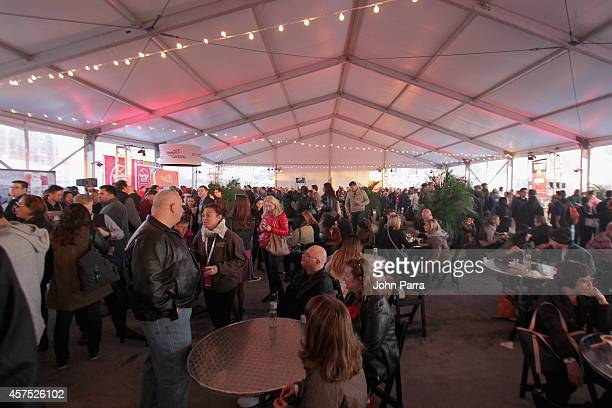 A general view of atmosphere at Meatopia X The Carnivore's Ball Presented By Creekstone Farms Hosted By Michael Symon during Food Network New York...