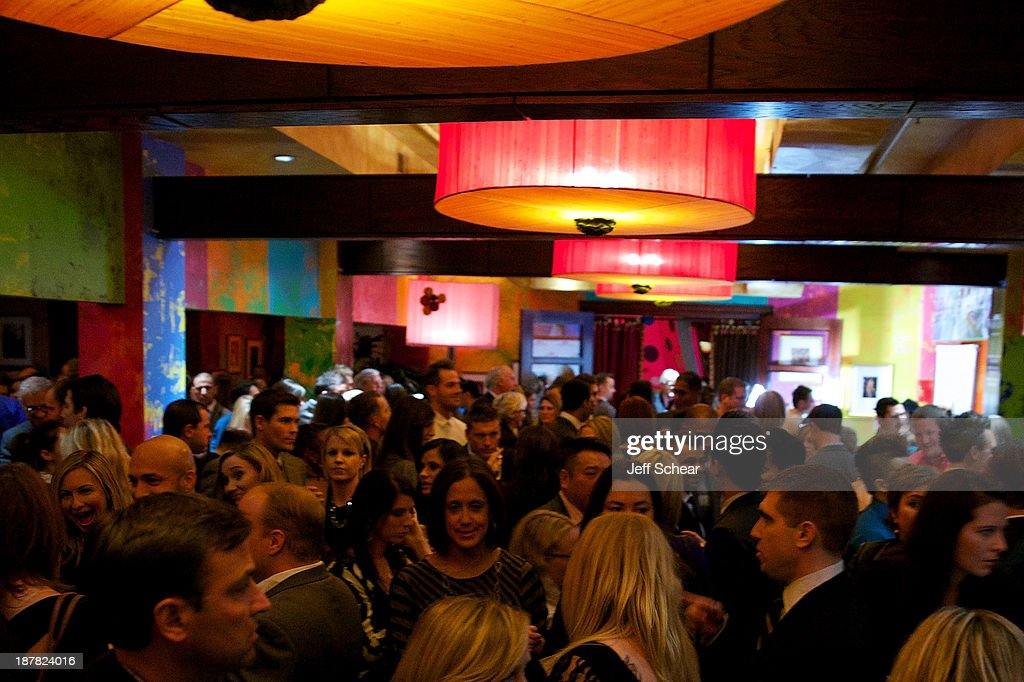 A general view of atmosphere at Michigan Avenue Magazine November Cover Celebration Hosted By Chicago Blackhawks' Patrick Sharp & Patrick Kane at Carnivale on November 12, 2013 in Chicago, Illinois.