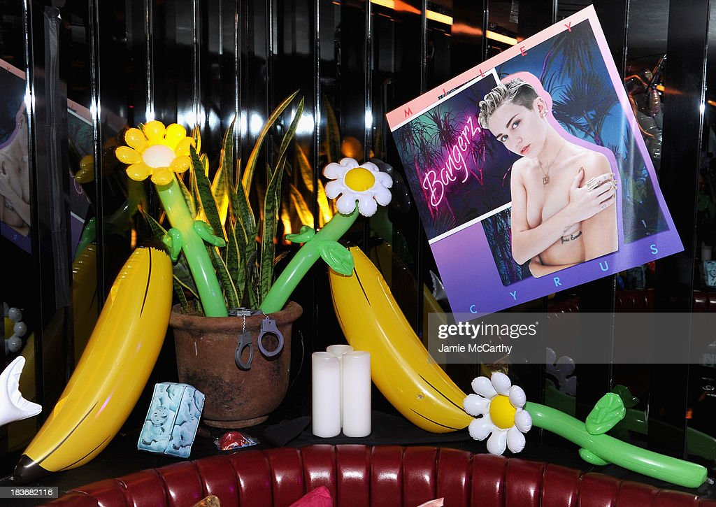 A general view of atmosphere at Miley Cyrus' Official Album Release Party for 'Bangerz' at The General on October 8, 2013 in New York City.