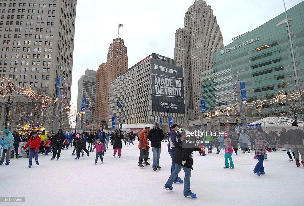 A general view of atmosphere at Motown Winter Blast at Campus Martius Park on February 10, 2013 in Detroit, Michigan.