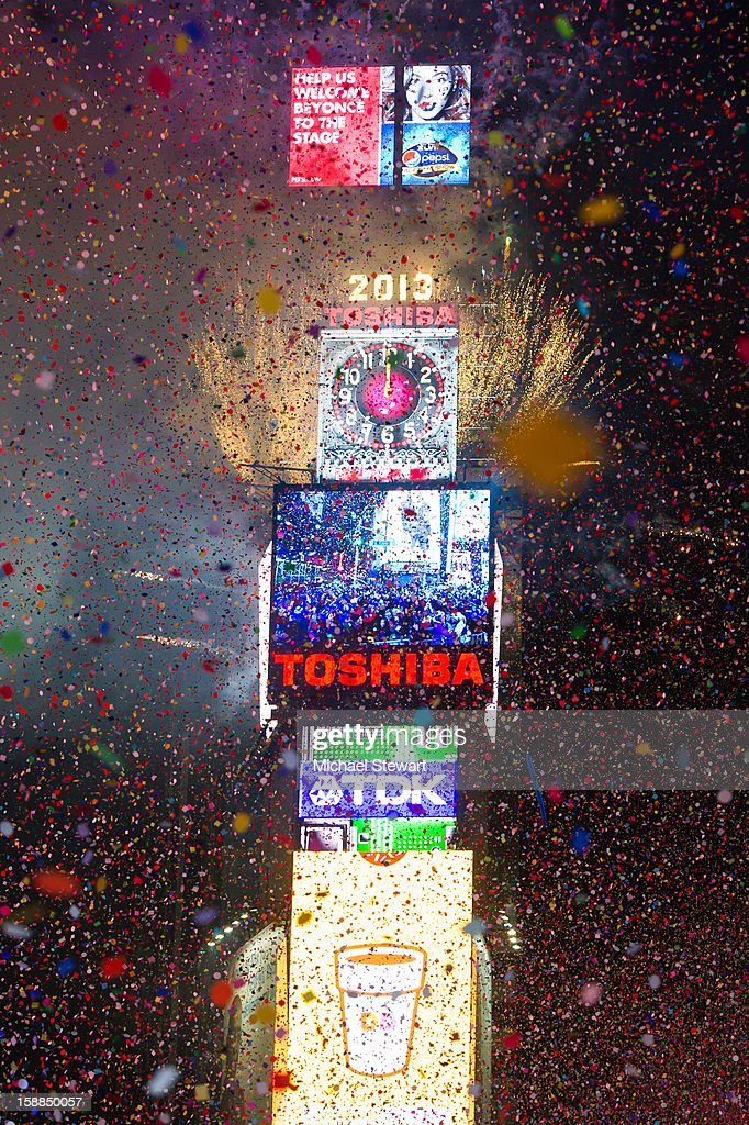 A general view of atmosphere at New Year's Eve 2013 In Times Square at Times Square on December 31, 2012 in New York City.