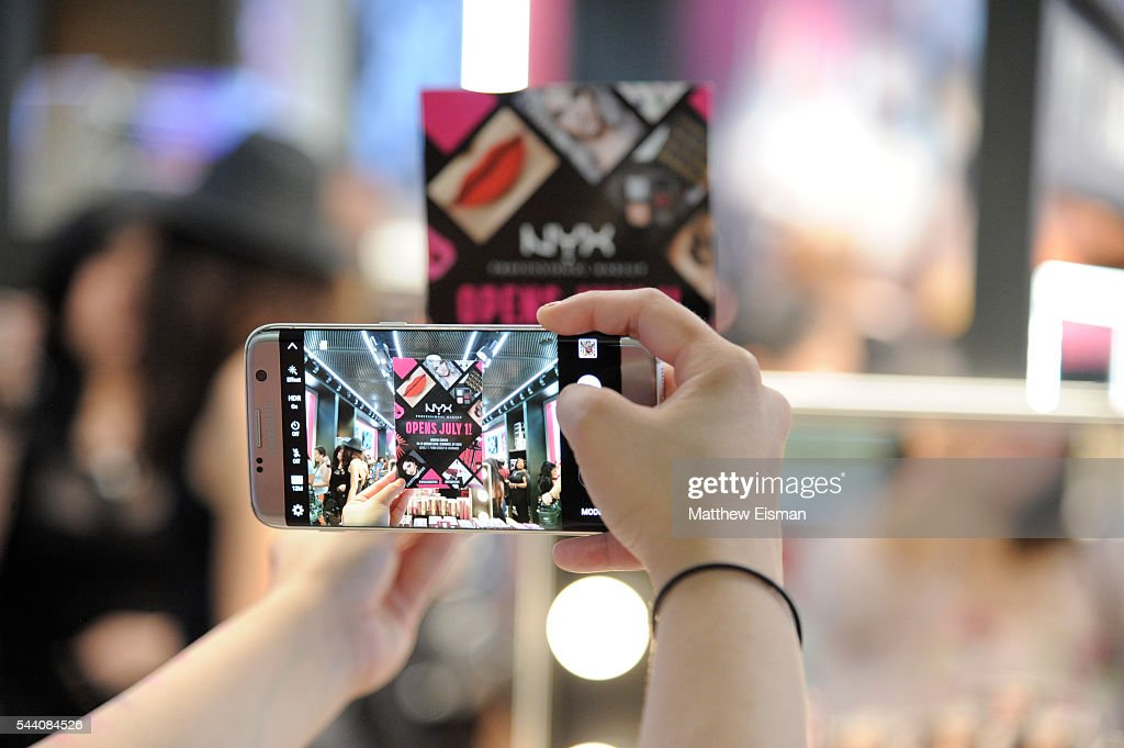A general view of atmosphere at NYX Professional Makeup Store grand opening event at Queens Center on July 1, 2016 in Elmhurst, New York.
