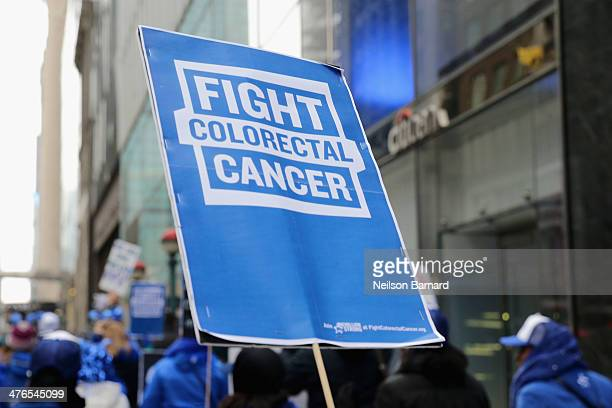 A general view of atmosphere at One Million StrongColorectal Cancer Awareness at Grand Central Terminal on March 3 2014 in New York City