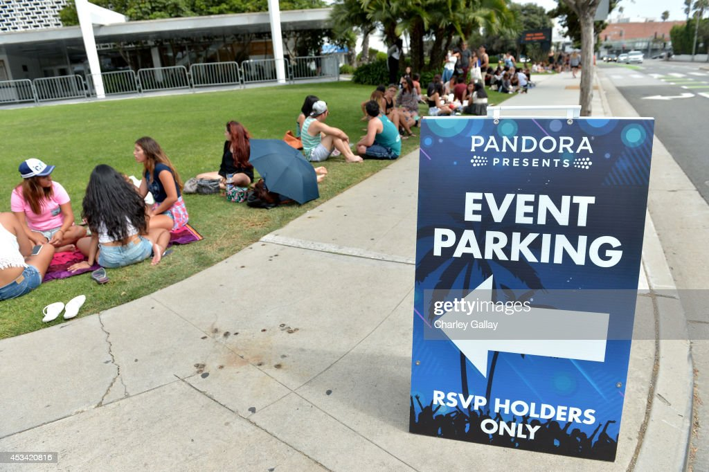 A general view of atmosphere at Pandora Presents on the Santa Monica Pier on August 9, 2014 in Santa Monica, California.