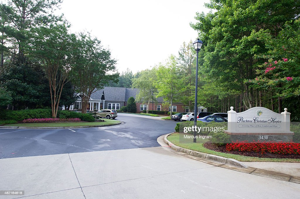 A general view of atmosphere at Peachtree Christian Hospice after Bobbi Kristina Brown passing on July 27 2015 in Duluth Georgia