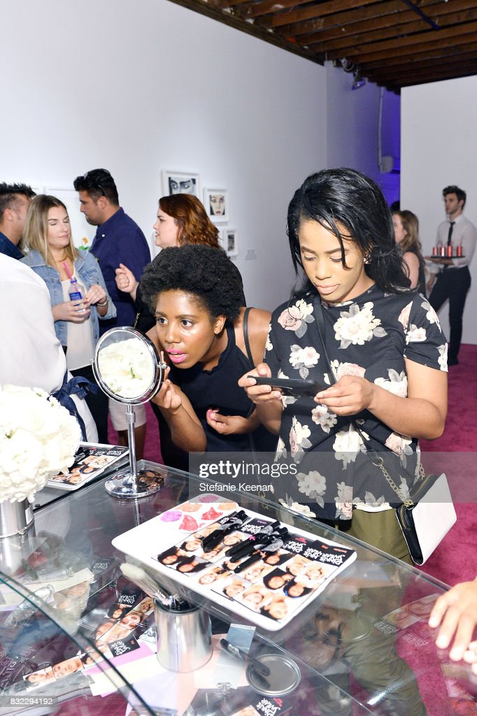 A general view of atmosphere at 'Pinkie Swear' Makeup Collective Celebrates Launch With Special Exhibition 'Drawn In: Beauty Illustration in the Digital World' Curated by Sarah Brown at Wilding Cran Gallery on August 15, 2017 in Los Angeles, California.