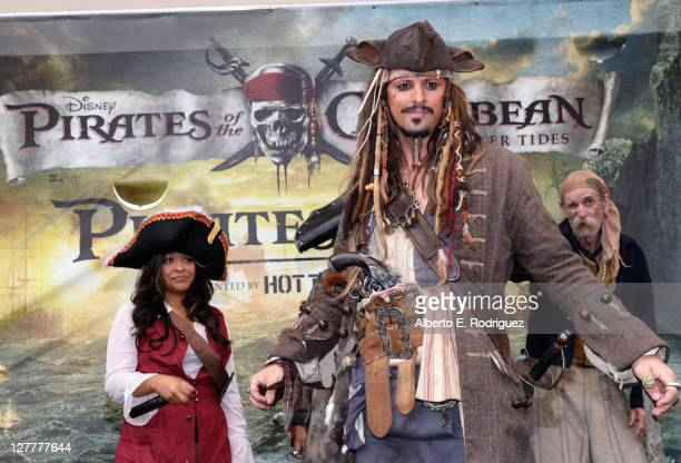 A general view of atmosphere at 'Pirates of the Caribbean On Stranger Tides' Themed 'Pirates Day' at Hot Topic on May 14 2011 in Hollywood California
