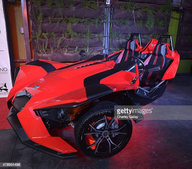 A general view of atmosphere at Polaris Slingshot At The Fifth Annual Mark Pitts Official BET Awards After Party at Project La on June 28 2015 in Los...