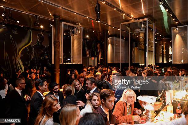 A general view of atmosphere at PRADA Journal A Literary Contest In Collaboration With Feltrinelli Editore at the Prada Epicenter Store on October 23...
