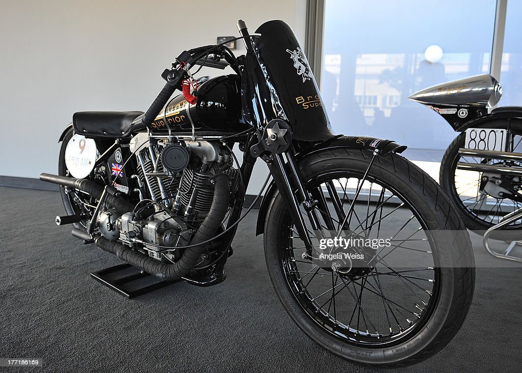 A general view of atmosphere at Return to the Salt with Brough Superior hosted by Jay Leno presented by Matchless and Ace Cafe at the The Petersen Automotive Museum on August 21, 2013 in Los Angeles, California.