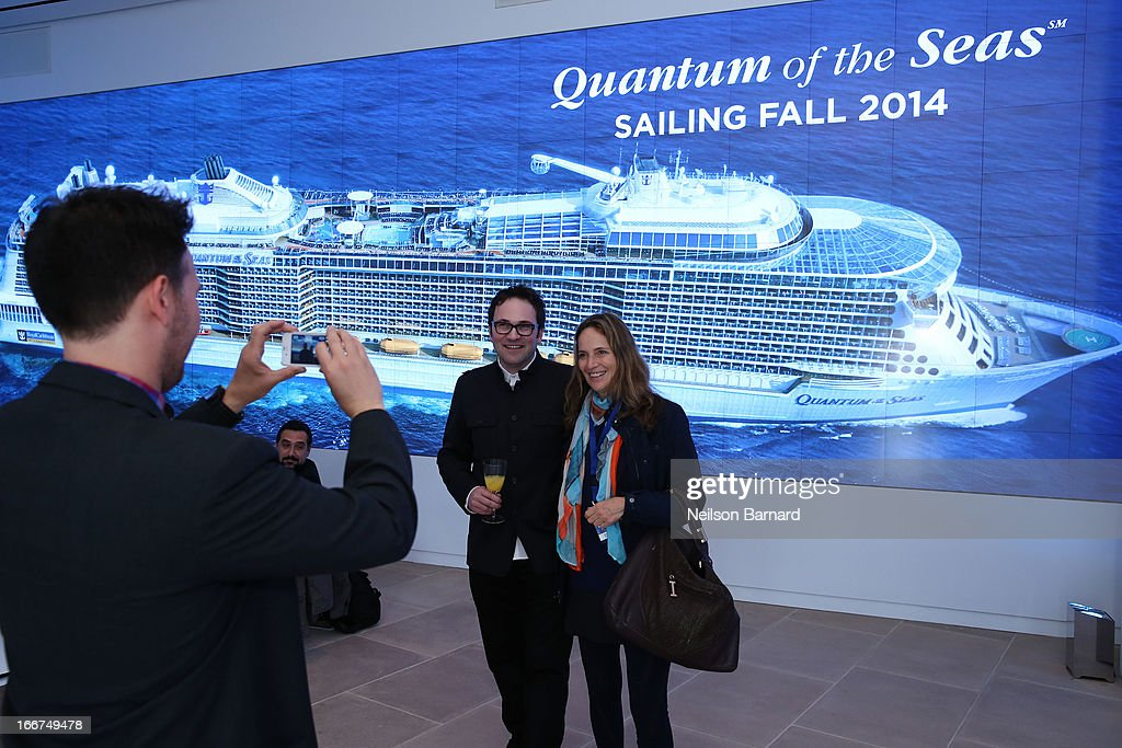 A general view of atmosphere at Royal Caribbean International reveals groundbreaking Quantum-Class ships on April 16, 2013 in New York City.