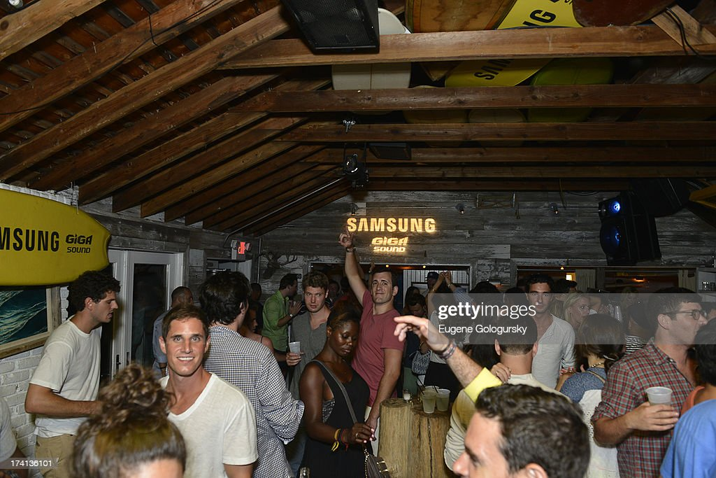 A general view of atmosphere at Samsung's #GigaSoundBlast Summer DJ Series on July 20, 2013 at Surf Lodge in Montauk, New York.