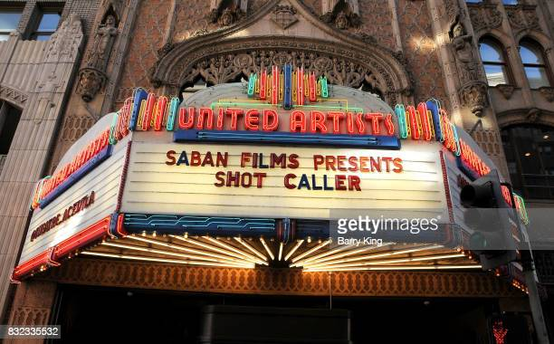 A general view of atmosphere at screening of Saban Films and DIRECTV's' 'Shot Caller' at The Theatre at Ace Hotel on August 15 2017 in Los Angeles...